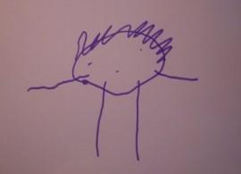 En huvudfoting fångar barnets bild av sig själv.